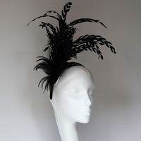 Stunning Black Fascinator on Headband - SN679